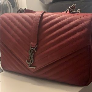 Ysl leather cross satchel bag